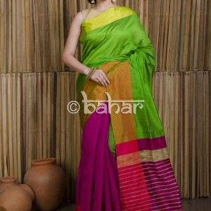 Mahapar Saree Cotton Silk Saree BP available MBSSRE-RDP-263