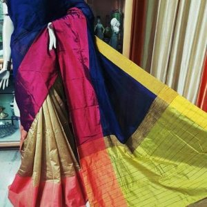Mahapar Saree Cotton Silk Saree BP available MBSSRE-RDP-260