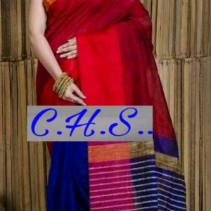 Mahapar Saree Cotton Silk Saree BP available MBSSRE-RDP-258