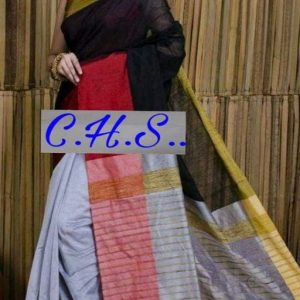 Mahapar Saree Cotton Silk Saree BP available MBSSRE-RDP-256