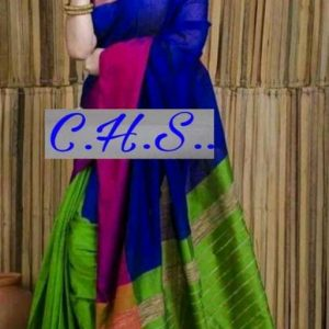 Mahapar Saree Cotton Silk Saree BP available MBSSRE-RDP-255